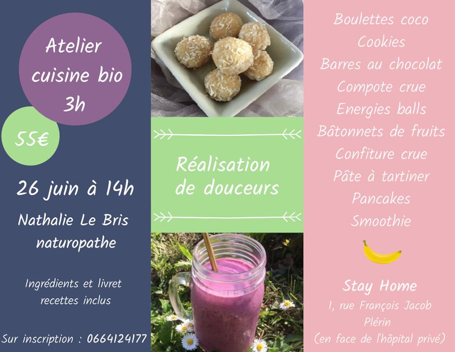 Atelier cuisine bio - Plérin 0