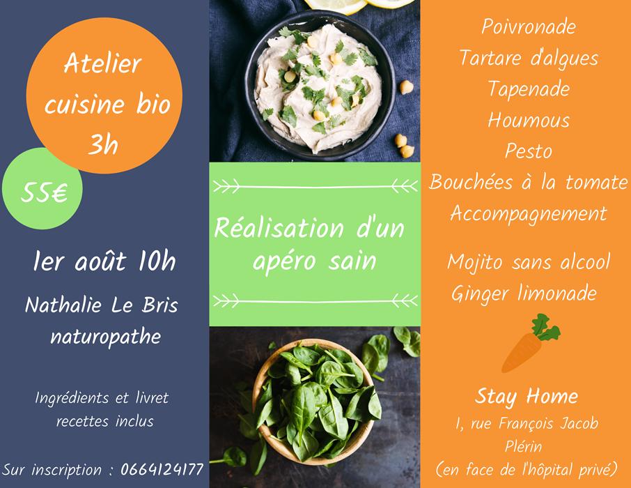 Atelier cuisine BIO - avec Nathalie LE BRIS / Naturopathe en Côtes d''Armor, près de Saint-Brieuc (22) 0